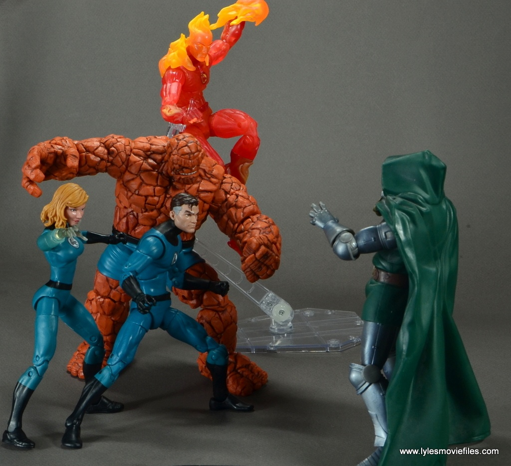 marvel legends the thing figure review - fantastic four vs doctor doom