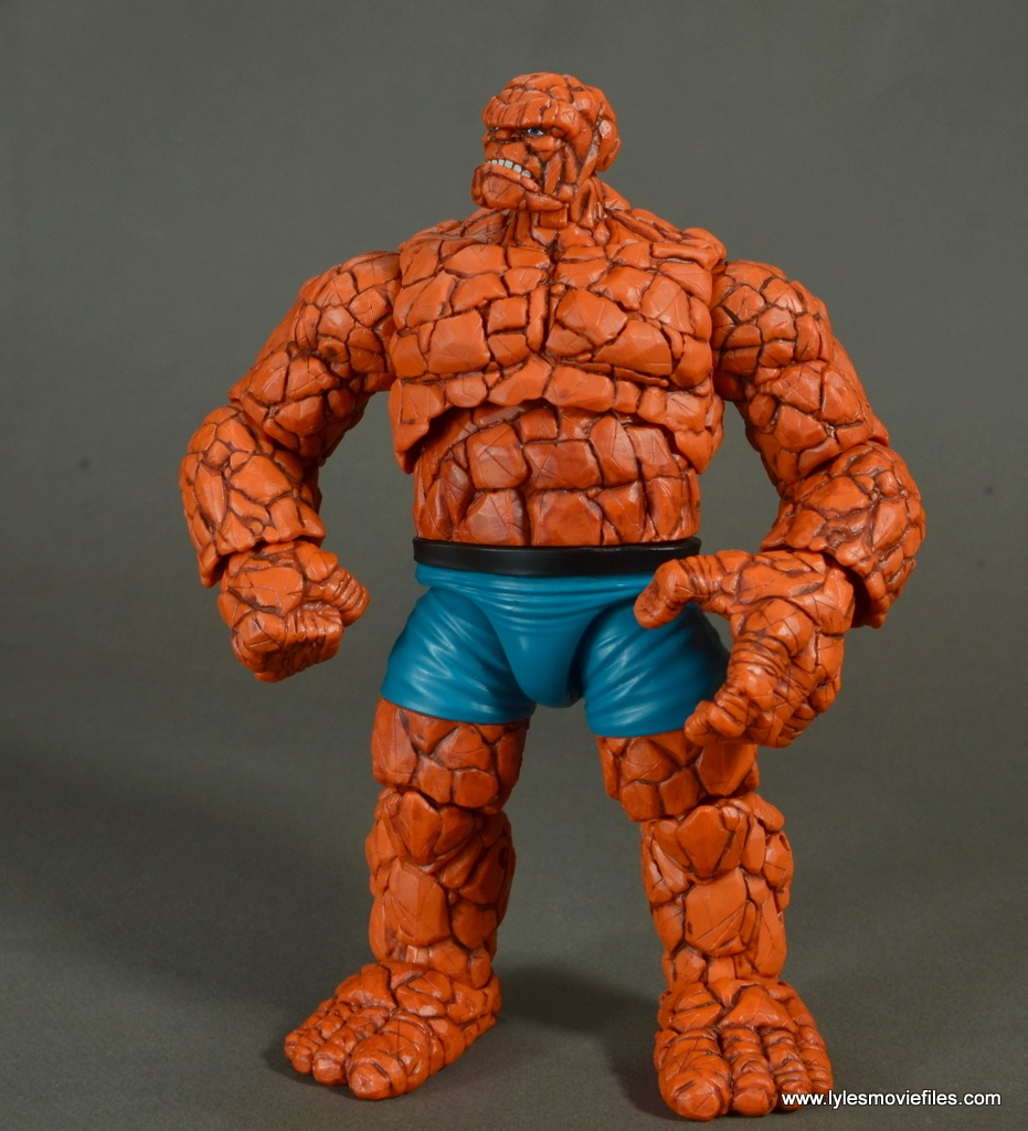 marvel legends the thing figure review - looking up