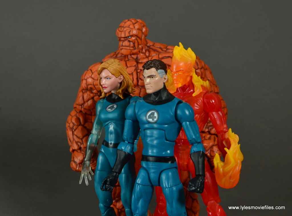marvel legends the thing figure review - profile shot of fantastic four