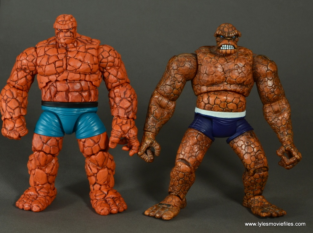 marvel legends the thing figure review - with toy biz the thing