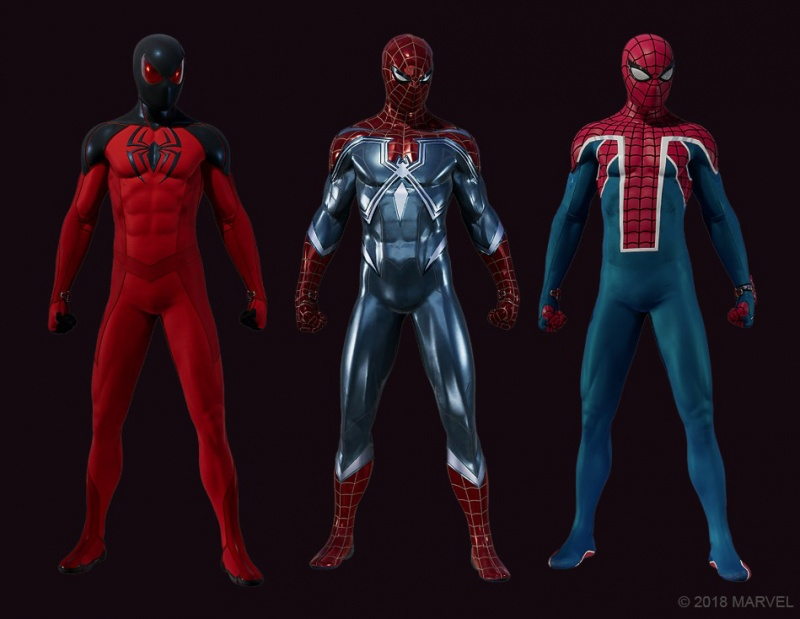 marvel's spider-man the heist -new spider-verse suits