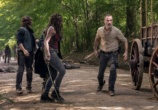 the walking dead a new beginning review -daryl, michonne and rick