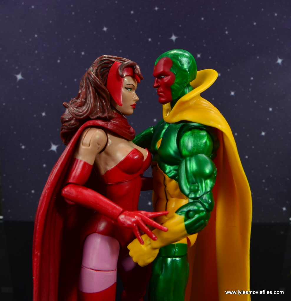marvel legends vision figure review - with scarlet witch