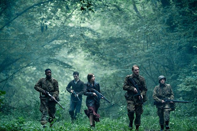 overlord movie review - jovan adepo, dominic applewhite, mathilde ollivier, wyatt russell and john magaro